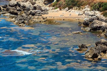 Paradise sea beach Cala Paradiso near Rocca di San Nicola, Agrigento, Sicily, Italy Stock Photo