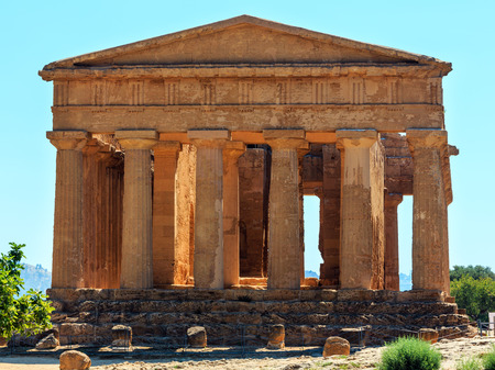 Temple of Concordia in famous ancient Greece Valley of Temples, Agrigento, Sicily, Italy.