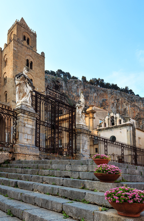 Cefalu old town view, Palermo region, Sicily, Italy.