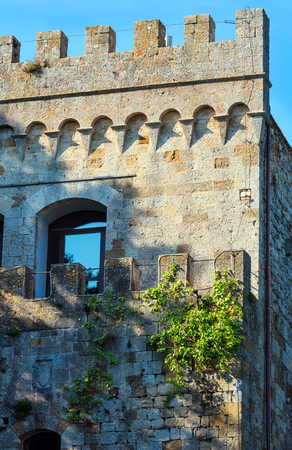 Tower in Montepulciano fortress. Province of Siena, Tuscany, Italy. Stock Photo