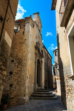 Fiumefreddo Bruzio street (one of Italy Most Beautiful Villages, on mountain hill top above Tyrrhenian sea coast), province of Cosenza, Calabria, Italy.