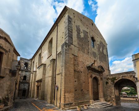 Fiumefreddo Bruzio street (one of Italian Most Beautiful Villages, on mountain hill top above Tyrrhenian sea coast), province of Cosenza, Calabria, Italy.