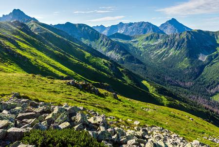 Tatra Mountain (Poland) view from Kasprowy Wierch range.
