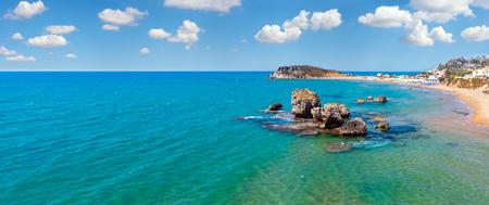 Paradise sea beach Cala Paradiso and Cala del Re near Rocca di San Nicola, Agrigento, Sicily, Italy Standard-Bild
