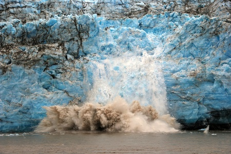calving: This picture is taken of calving ice on the Childs Glacier near Cordova, Alaska