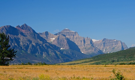 The St Mary Valley in Glacier National Park in Montana