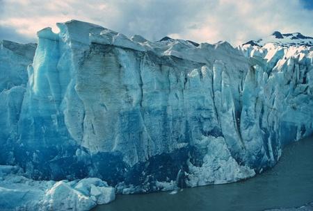 serac: The face of the Mendenhall Glacier in Alaska Stock Photo
