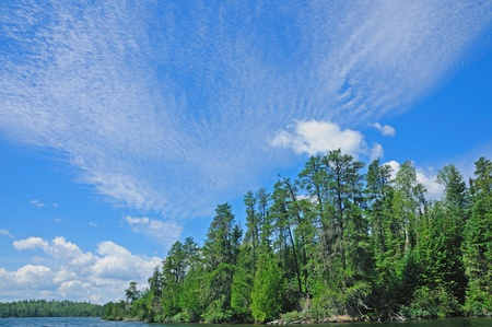 cirrus: Cirrus clouds over canoe country