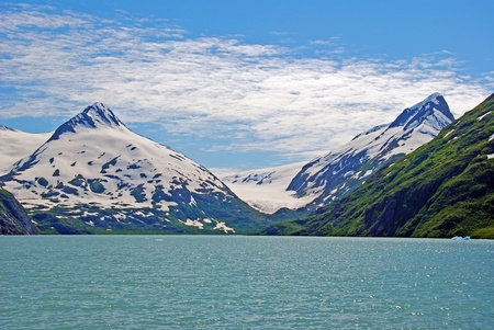This picture is taken by the Portage Glacier near Anchorage Alaska