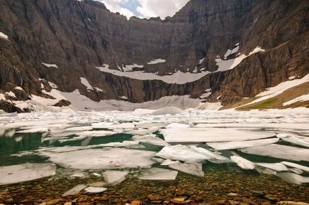 빙산 호수 빙하 국립 공원에서 몬타나