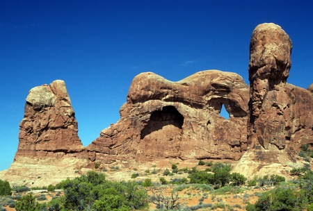 Elephant Rock in Arches National Park in Utah