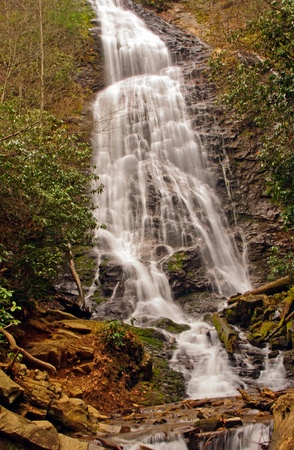 Mingo Falls in The Smoky Mountains in North Carolina