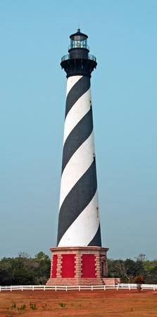 C'est l'emblématique phare de Cape Hatteras, sur les rives extérieures de la Caroline du Nord Banque d'images - 12209812