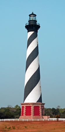 barrier island: This is the iconic Cape Hatteras lighthouse on the outer banks of North Carolina