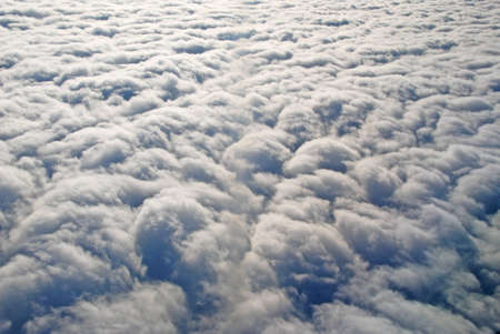 stratus: This picture is taken of a stratus cloud layer near Anchorage, Alaska Stock Photo