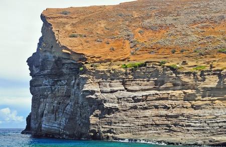 カウアイ島とニイハウ近くにあるハワイのレフア ロック