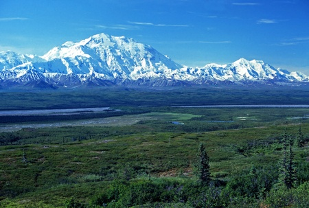 clear day: Mt McKinley viewed near Wonder Lake on a clear day