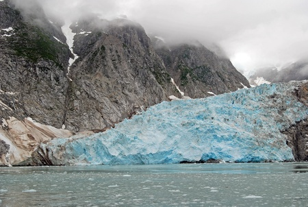 The Great Northwest Glacier on a foggy day in the Kenai Fjords Stock Photo - 12579346
