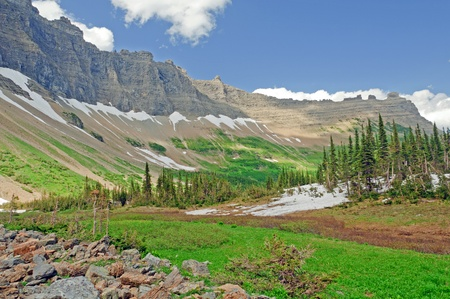 tiaga: Iceberg valley in the summer in glacier national park Stock Photo