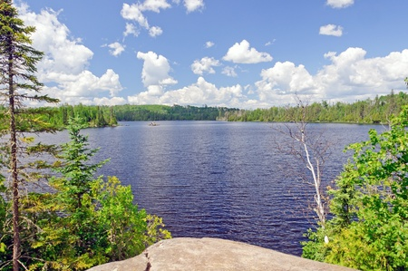 waters: Ham lake in the Boundary Waters in Minnesota
