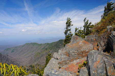 View from the Appalachian trail near Charlies Bunion photo