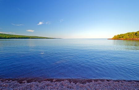 Lake Superior from the North Bay of Grand Marais, Minnesota photo
