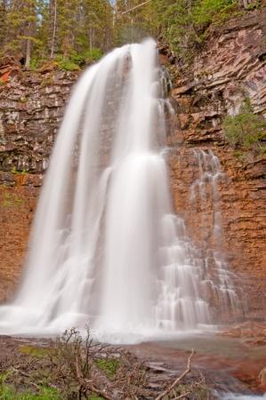 バージニアの滝の氷河国立公園 写真素材
