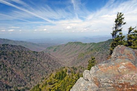 View from the Appalachian Trail in the Smoky Mountains photo