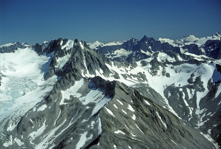 Aerial view of the mountains in Glacier Bay National Park Stock Photo - 13181006