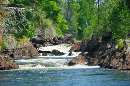 provincial: Canyon Falls in the Falls Cahin of Quetico Provincial Park