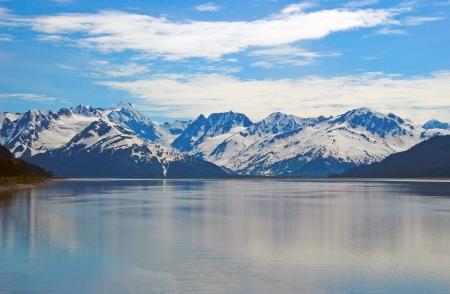 ガートウッド、アラスカの近くのキーナイ山脈 写真素材