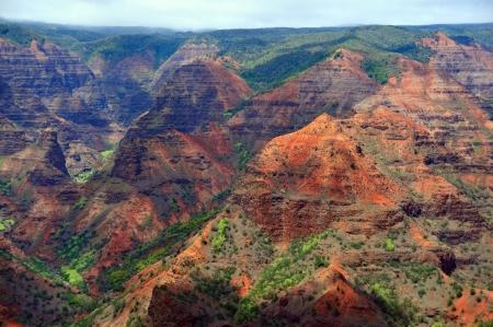 Colors of Waimea Canyon on the Hawaiian island of Kauai Stock Photo