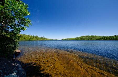 north woods: Blue Skies over Winchell Lake in The North Woods