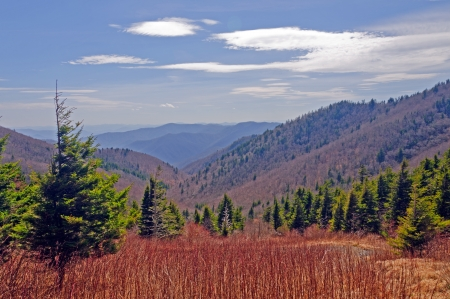 Kephart Valley from the Appalachian Trail in the Smoky Mountains photo