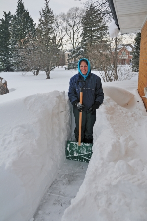 This picture was taken in Chicago after a 22 inch snow storm photo
