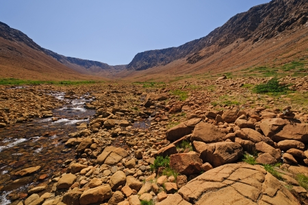 The Tablelands in Gros Morne National Park in Newfoundland Stock Photo - 15214699