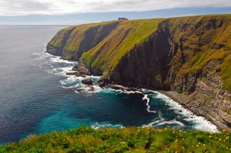 ニューファウンドランドの岬の聖マリアの沿岸崖 写真素材
