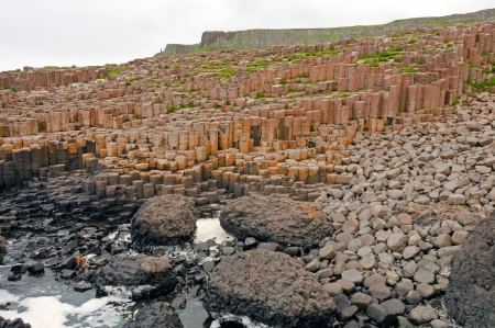 The Giants Causeway in Northern Ireland Stockfoto
