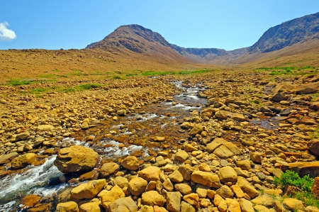 Trout River in the Tablelands in Gros Morne National Park photo