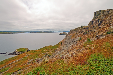 roberts: Cliffs on the Mad Rocks Trail near Bay Roberts in Newfoundland