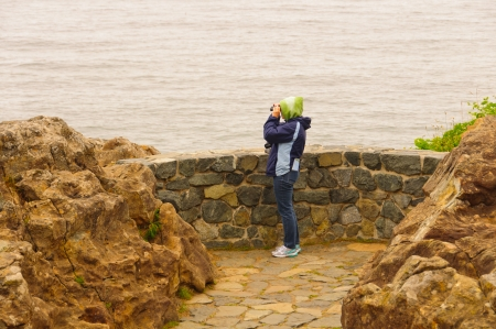 birdwatcher: Birdwatcher at Wedding Rock in Patricks Point State Park