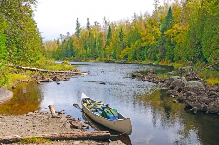 Mora Lake Portage in the Boundary Waters