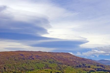 Unique Lenticular Clouds near Wanaka, New Zealand Stock Photo - 16813332