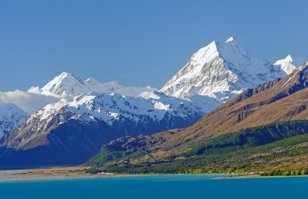mt: Mt Cook (Aoraki) in the Southern Alps of New Zealand