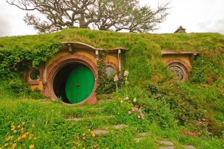 Bag end on Bagshot row in Hobbiton