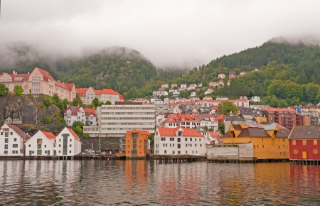 Bergen, Norway on a cloudy September Morning