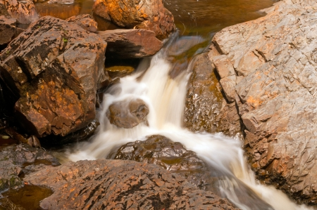 cataracts: Cascade on the Cataract River in Cataracts Provincial Park in Newfoundland Stock Photo
