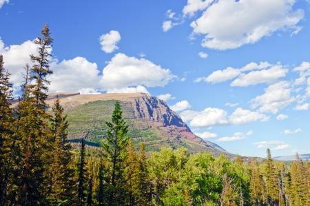 Escarpment in the St Mary Valley of Glacier National park Stock Photo - 17317010