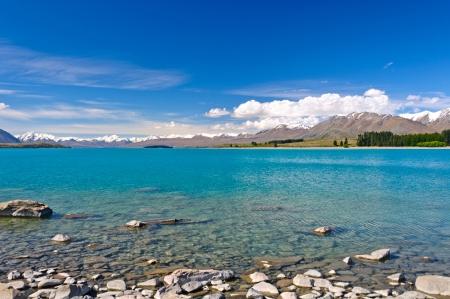 tekapo: Lake Tekapo and the Southern Alps in New Zealand