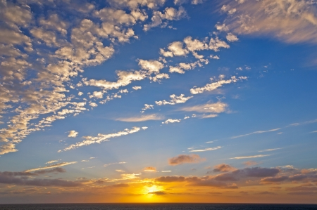 stratus: Sunset Clouds over the English Channel